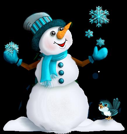 Красивый снеговик - картинки и рисунки. Подборка картинок снеговиков 1