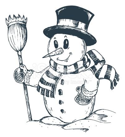 Красивый снеговик - картинки и рисунки. Подборка картинок снеговиков 10