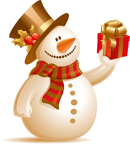 Красивый снеговик - картинки и рисунки. Подборка картинок снеговиков 11