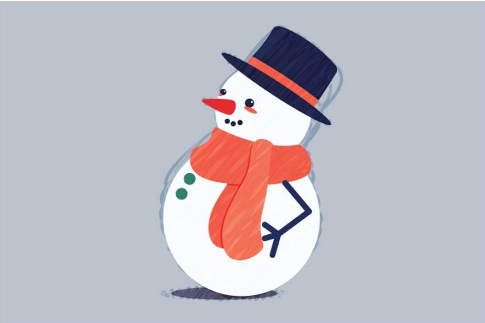 Красивый снеговик - картинки и рисунки. Подборка картинок снеговиков 13