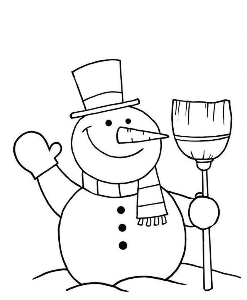 Красивый снеговик - картинки и рисунки. Подборка картинок снеговиков 17