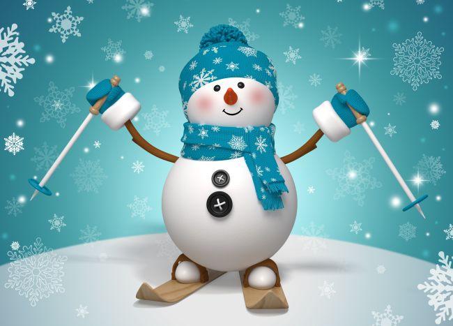 Красивый снеговик - картинки и рисунки. Подборка картинок снеговиков 22