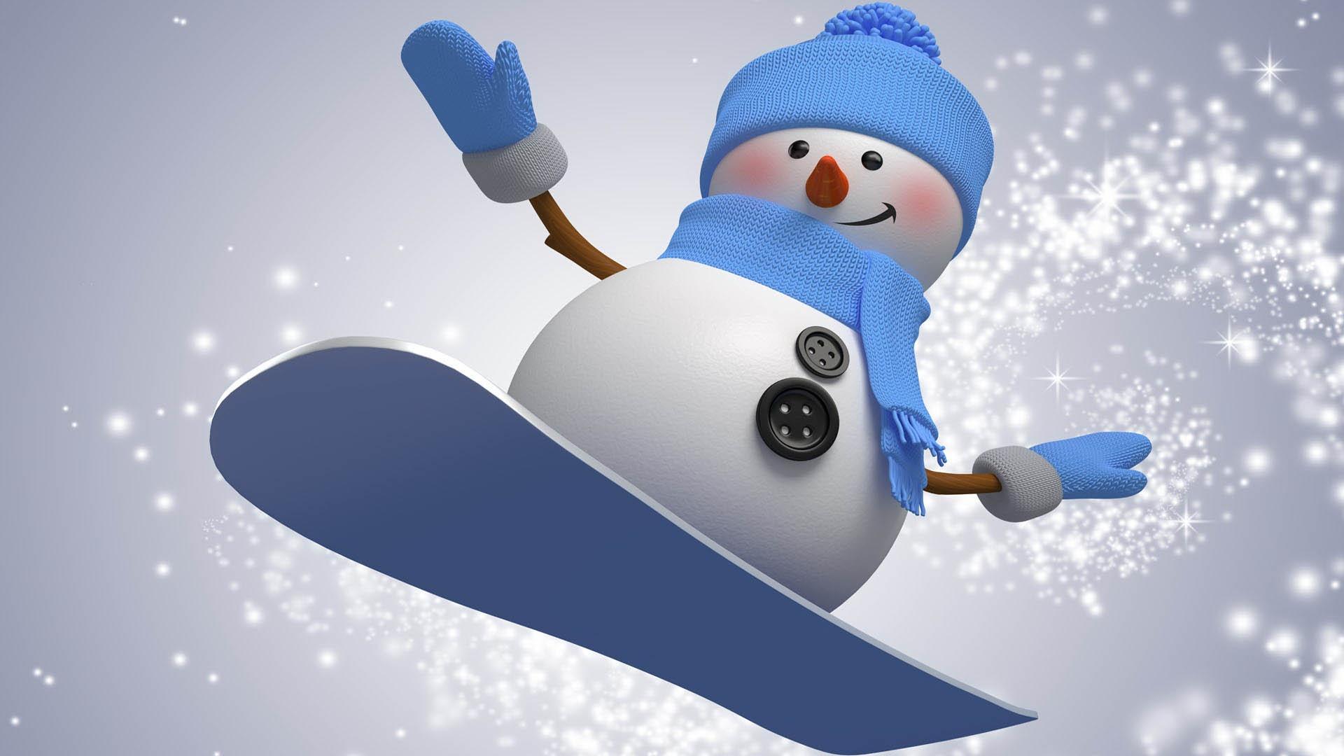 Красивый снеговик - картинки и рисунки. Подборка картинок снеговиков 4