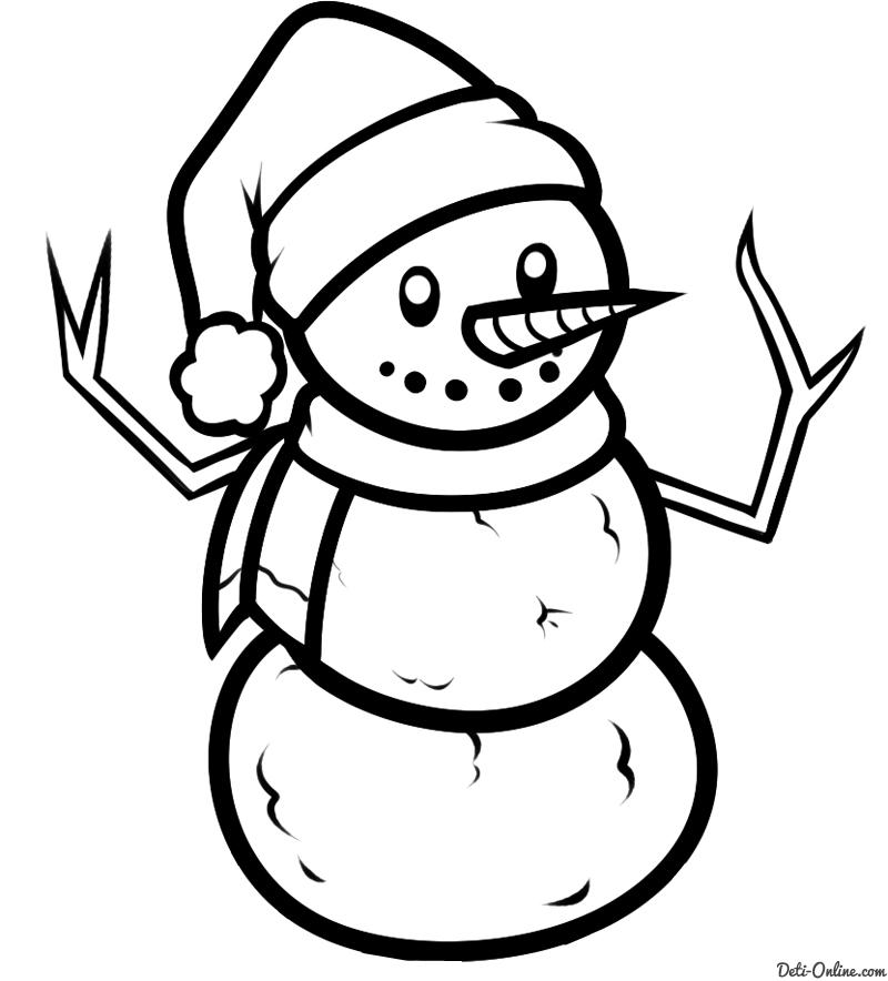 Красивый снеговик - картинки и рисунки. Подборка картинок снеговиков 6