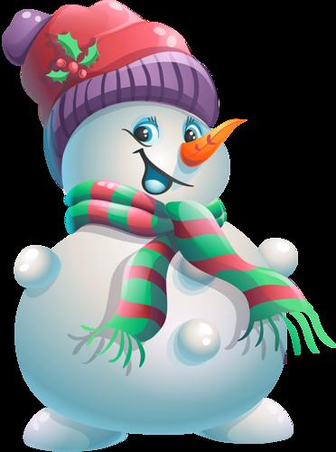 Красивый снеговик - картинки и рисунки. Подборка картинок снеговиков 8