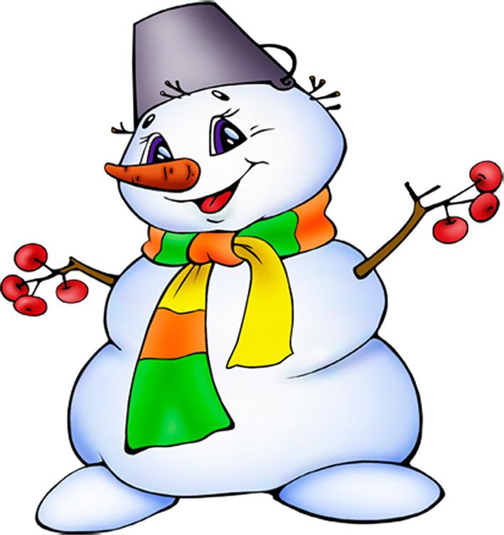 Красивый снеговик - картинки и рисунки
