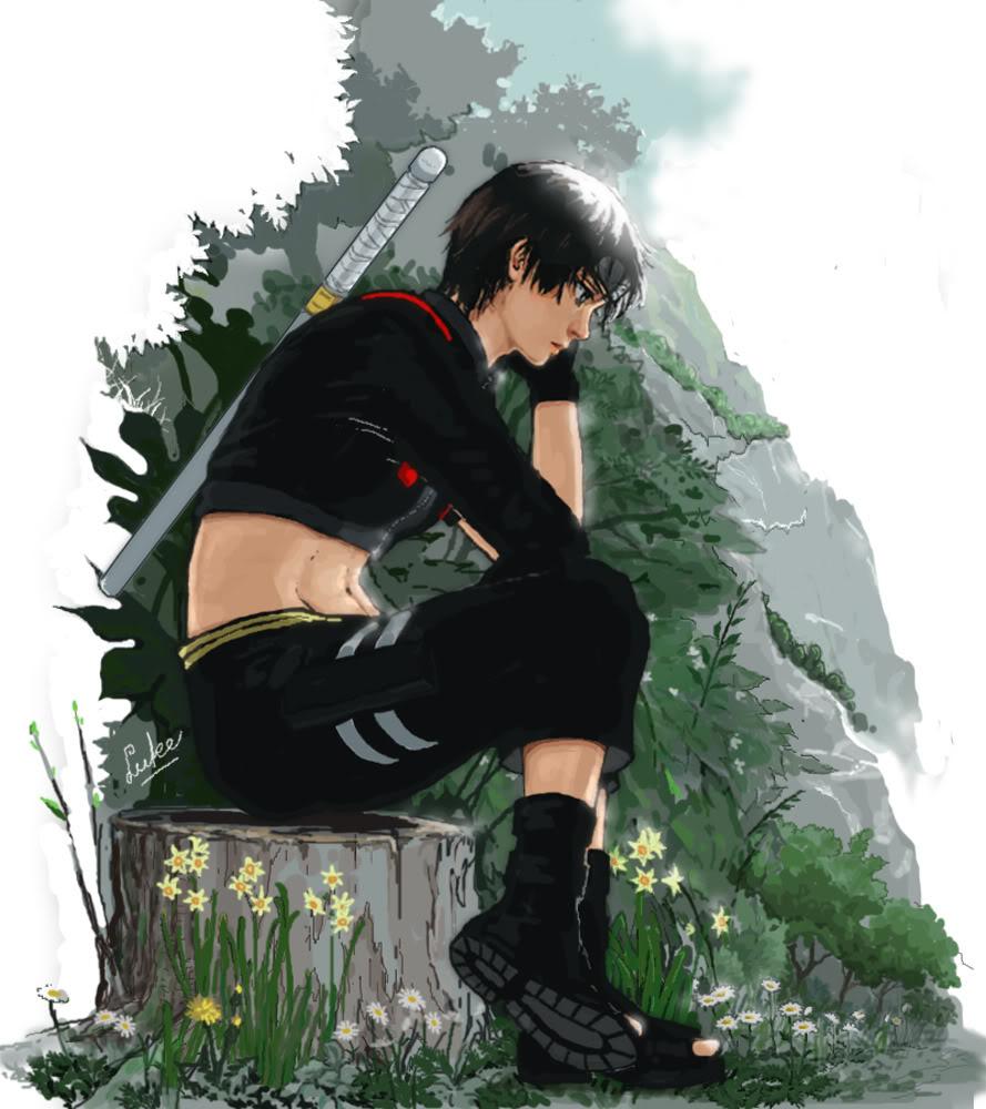 Крутые и классные картинки, арты Сай из Наруто аниме - подборка 1
