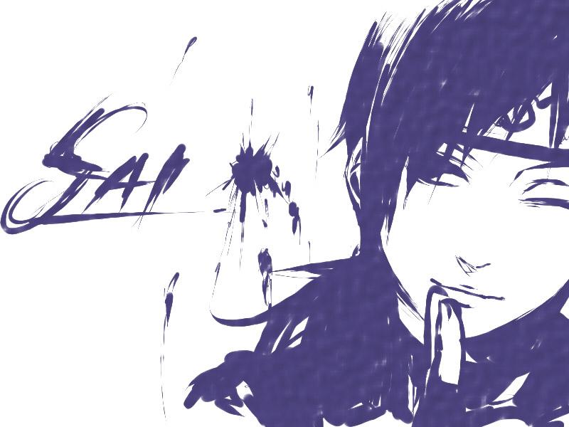 Крутые и классные картинки, арты Сай из Наруто аниме - подборка 14