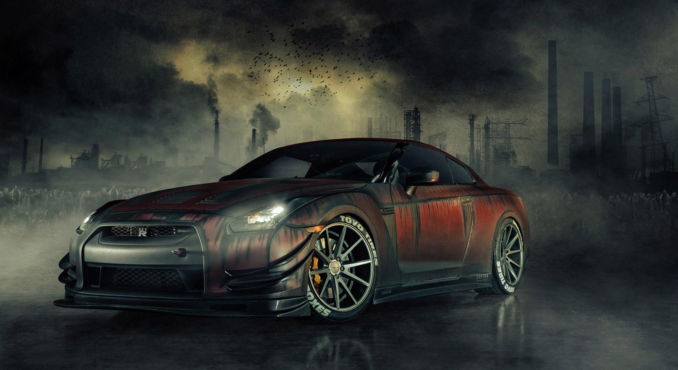 Невероятные и красивые обои, картинки - Nissan GT-R 7