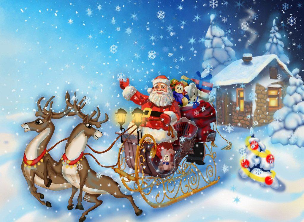 Новогодние картинки для детей и малышей - красивая подборка 1
