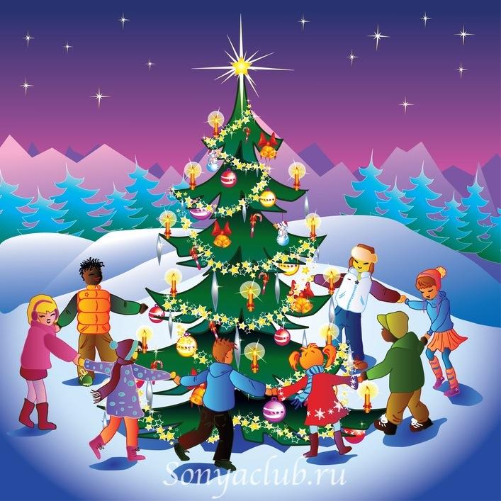 Новогодние картинки для детей и малышей - красивая подборка 7
