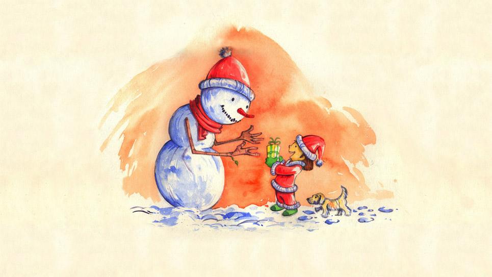 Новогодние картинки для детей и малышей - красивая подборка 8