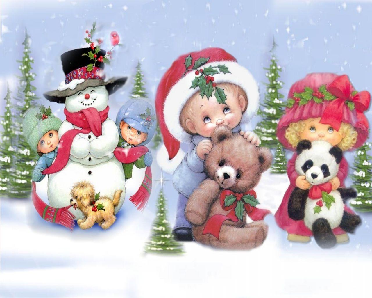 Новогодние картинки для детей и малышей - красивая подборка 9