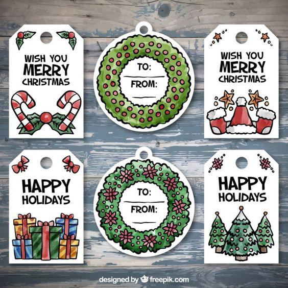 Новый год и Рождество - красивые и интересные векторные картинки 16