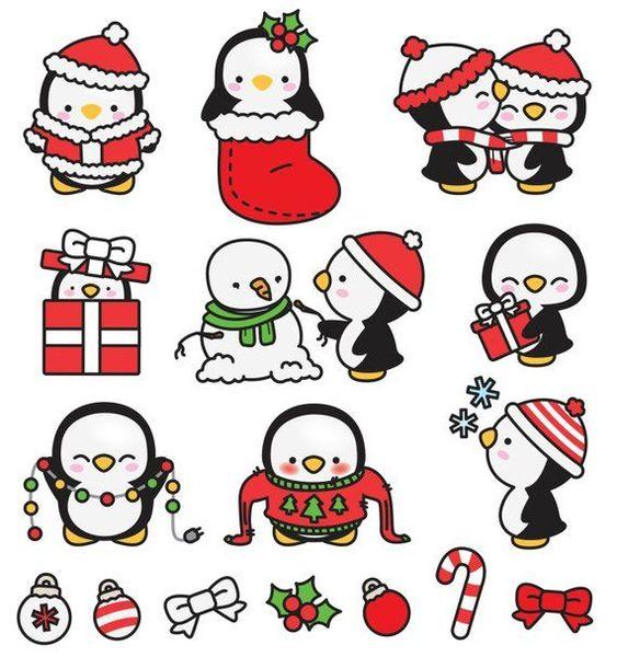 Новый год и Рождество - красивые и интересные векторные картинки 21