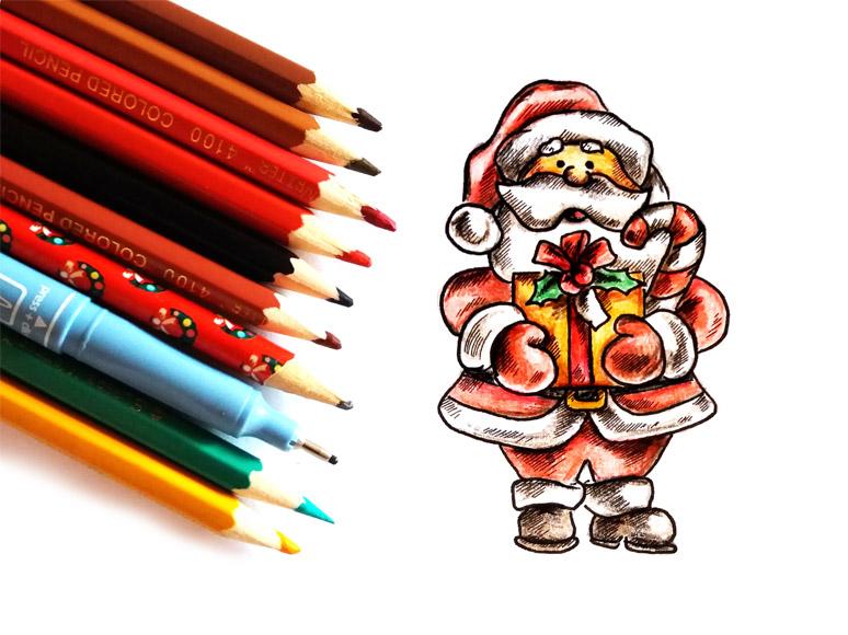 Новый год 2019 картинки и рисунки для срисовки - милая сборка 8