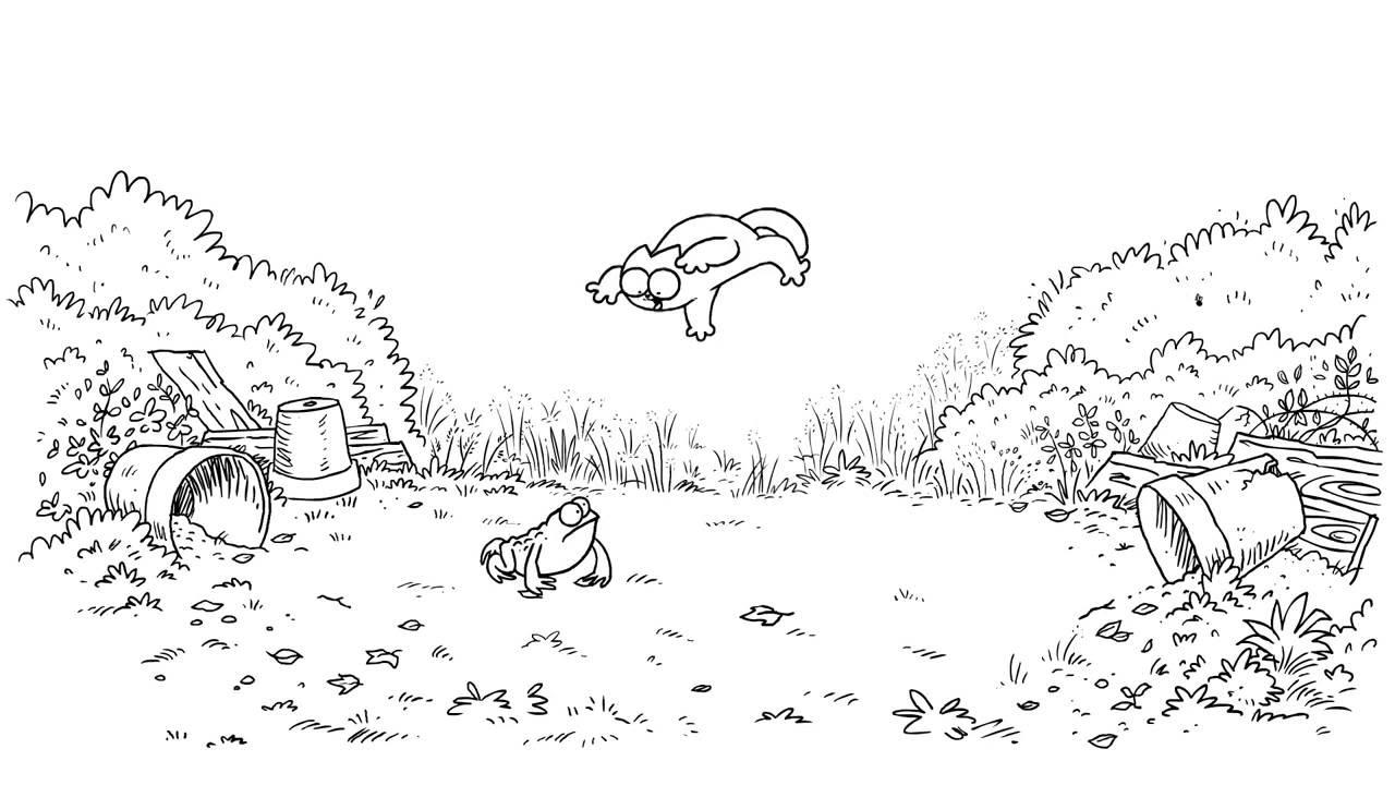 Прикольные и классные рисунки, картинки Саймон Кот - подборка 14