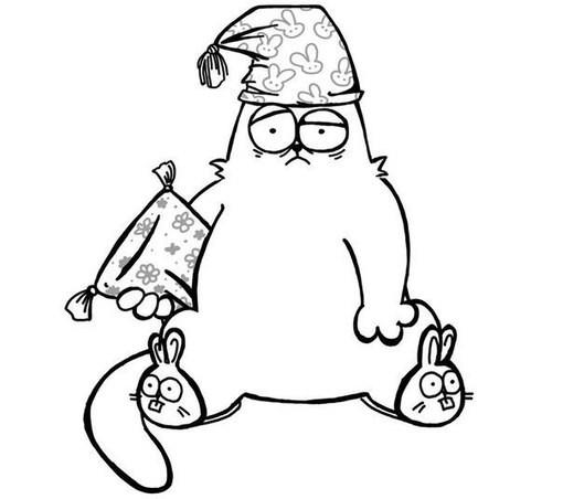 Прикольные и классные рисунки, картинки Саймон Кот - подборка 2