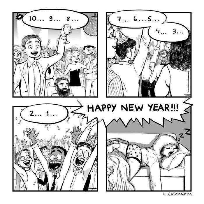 Прикольные и смешные комиксы про Новый год и Рождество 3