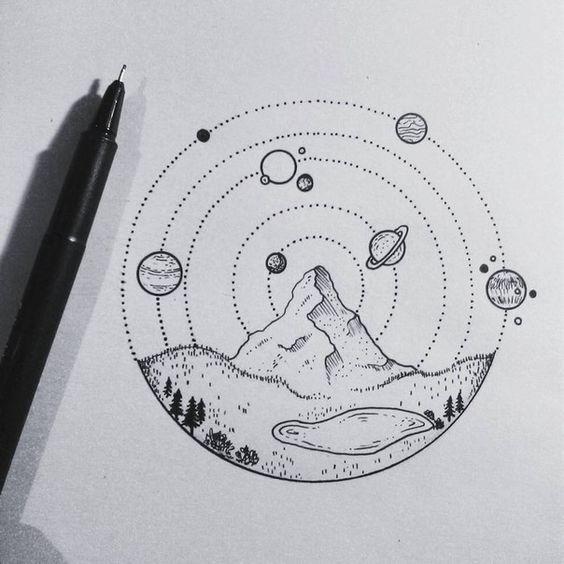 Самые красивые картинки для срисовки в скетчбук - подборка 10