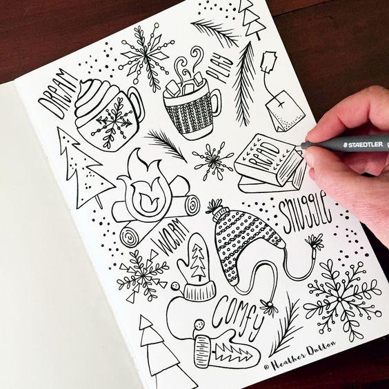 Самые красивые картинки для срисовки в скетчбук - подборка 13