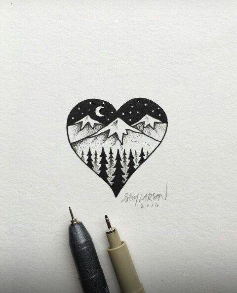Самые красивые картинки для срисовки в скетчбук - подборка 14