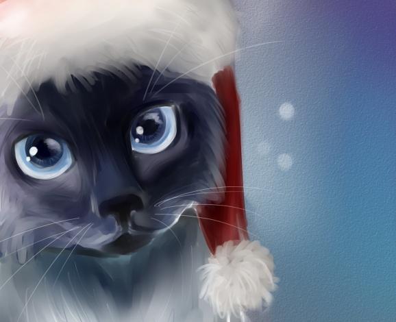 Самые красивые рисунки на Новый год и зиму - подборка 19