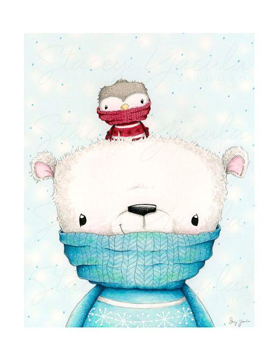 Самые красивые рисунки на Новый год и зиму - подборка 23