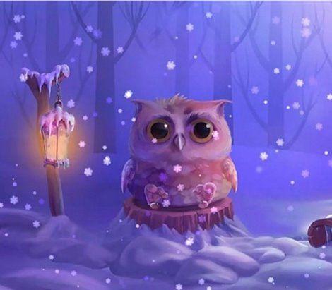 Самые красивые рисунки на Новый год и зиму - подборка 3