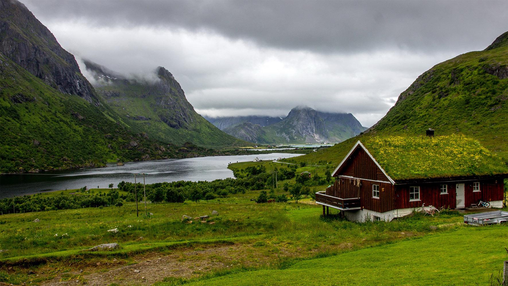 Самые удивительные и красивые фото, картинки Норвегии - сборка 12