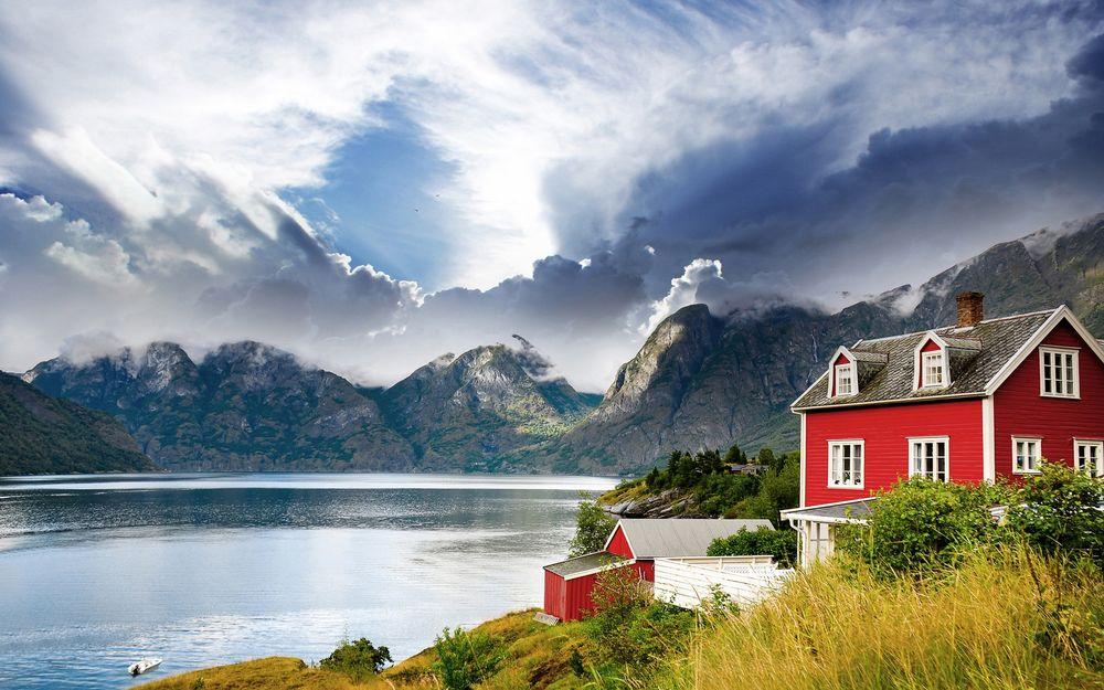 Самые удивительные и красивые фото, картинки Норвегии - сборка 8