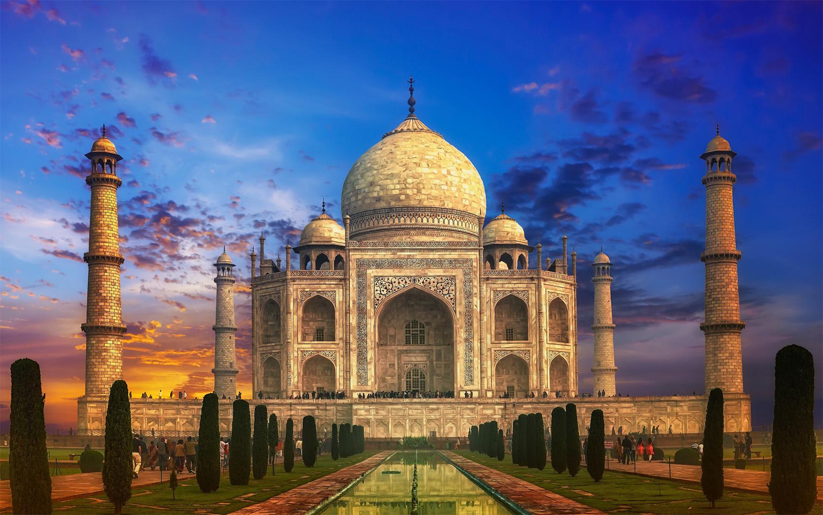 Удивительные и красивые картинки, обои Тадж Махал - подборка 1