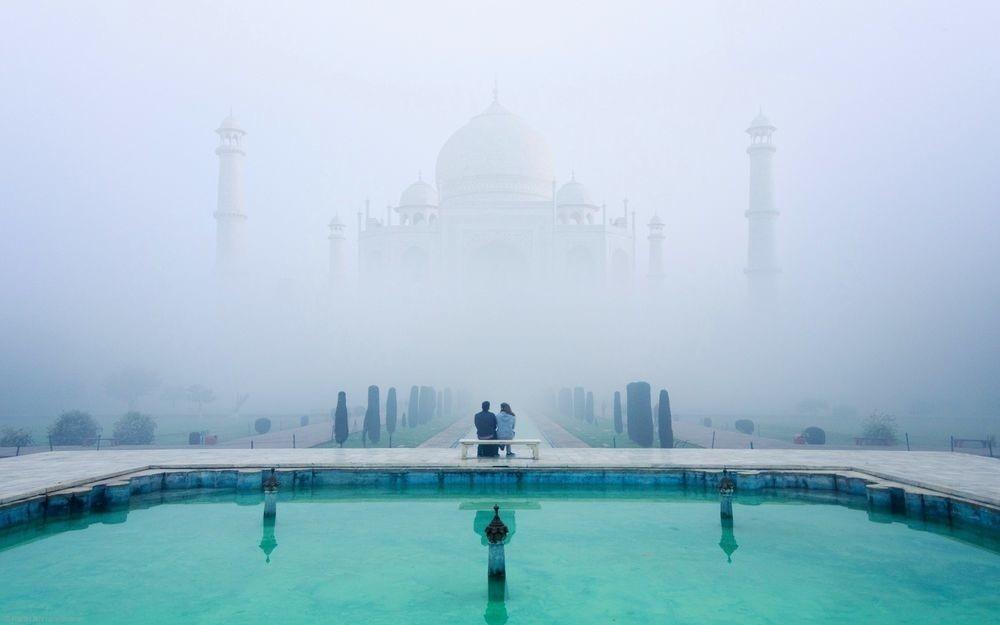 Удивительные и красивые картинки, обои Тадж Махал - подборка 8