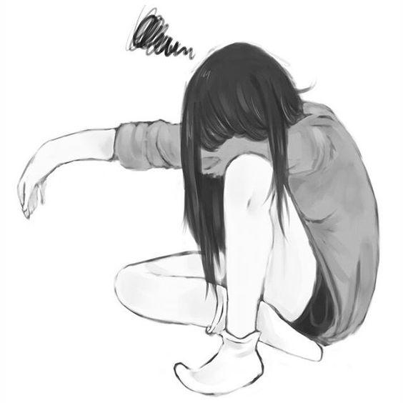 Грустные и печальные картинки со смыслом для срисовки - сборка 1