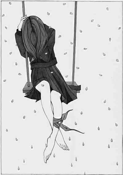 Грустные и печальные картинки со смыслом для срисовки - сборка 16