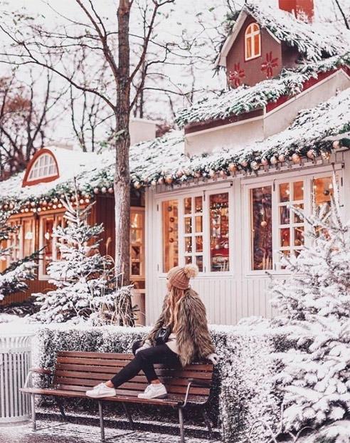 Зимние фотки на аватарку для девушек и девочек - коллекция 17