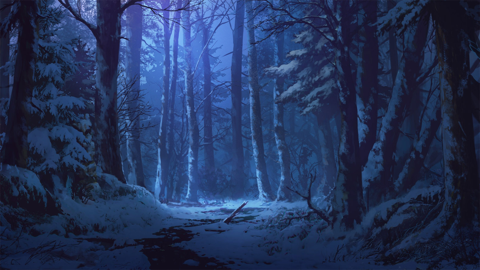 Зимняя ночь картинки красивые и удивительные - подборка 20 фото 10