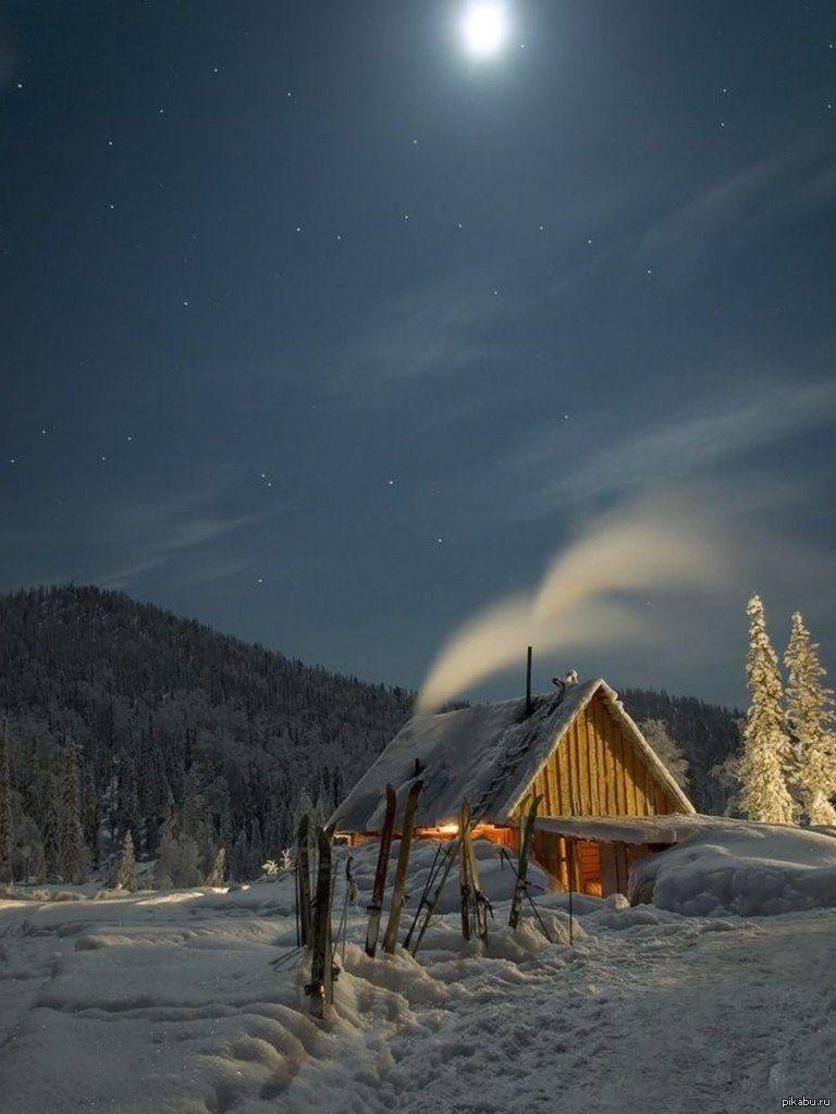 Зимняя ночь картинки красивые и удивительные - подборка 20 фото 12