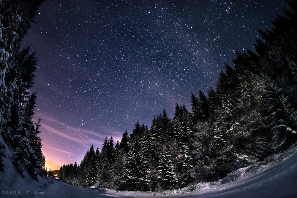 Зимняя ночь картинки красивые и удивительные - подборка 20 фото 13