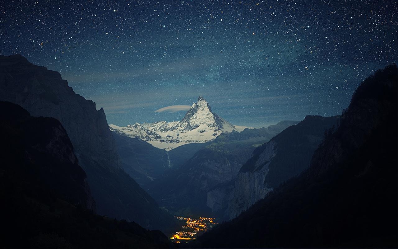 Зимняя ночь картинки красивые и удивительные - подборка 20 фото 5