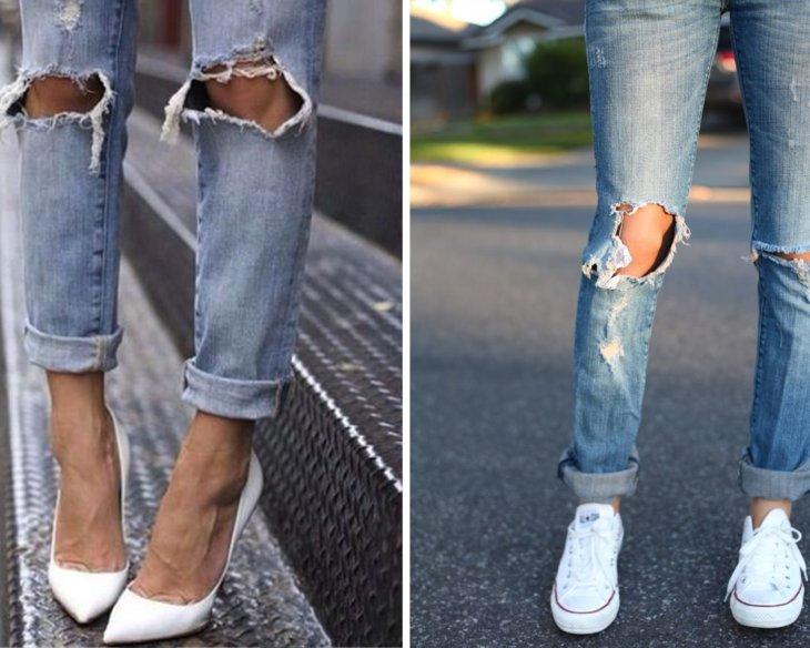 Как носить рваные джинсы, с чем они лучше всего сочетаются 2