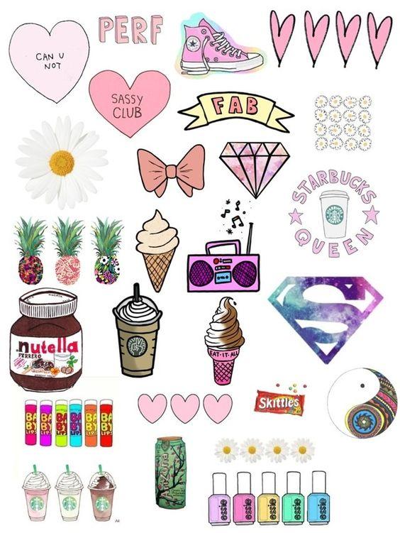 Картинки и рисунки для срисовки в ЛД для девочек - подборка 14