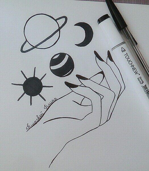 Картинки и рисунки для срисовки в ЛД для девочек - подборка 6