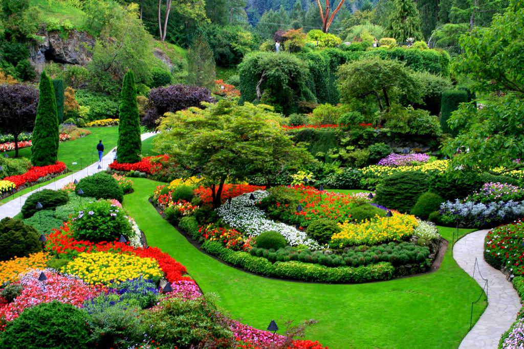 Картинки и фотографии красивого сада, удивительное оформление 1
