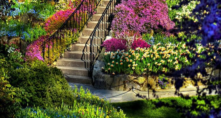 Картинки и фотографии красивого сада, удивительное оформление 15