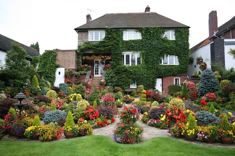 Картинки и фотографии красивого сада, удивительное оформление 4
