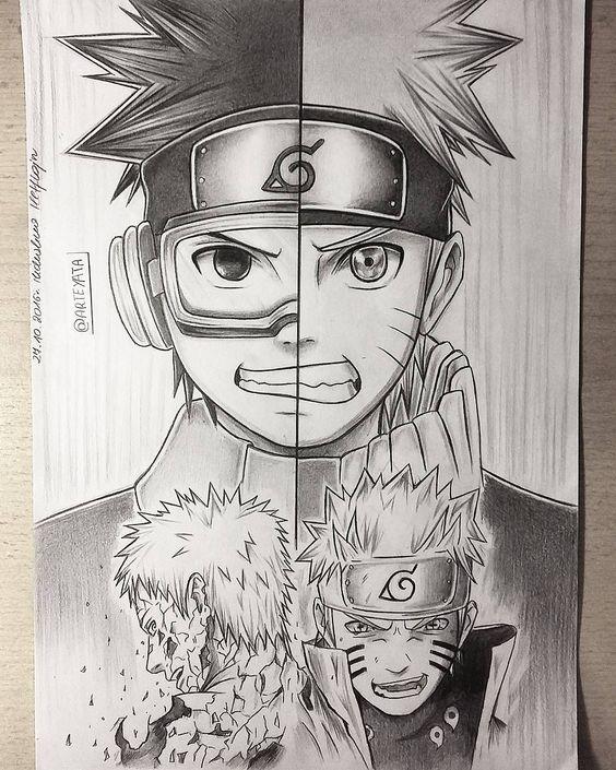 Классные нарисованные картинки героев из аниме Наруто - сборка 22