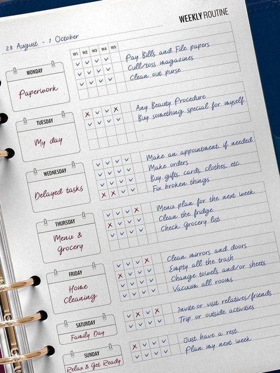 Красивые и прикольные шаблоны для ежедневника - подборка 1