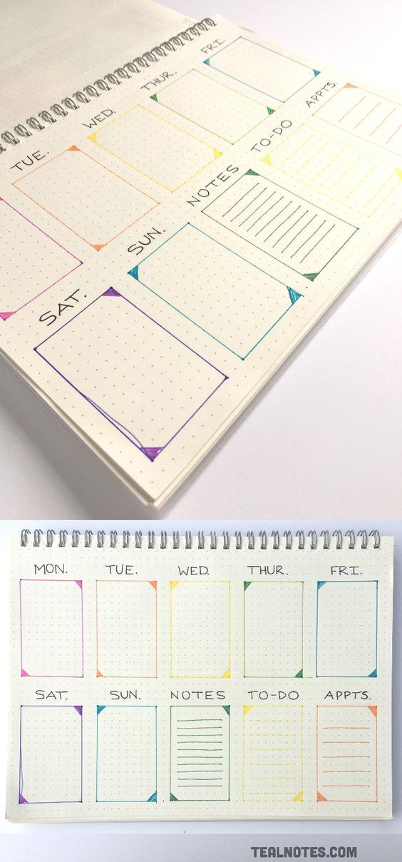 Красивые и прикольные шаблоны для ежедневника - подборка 19
