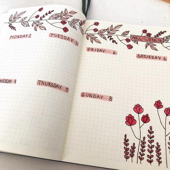 Красивые и прикольные шаблоны для ежедневника - подборка 6